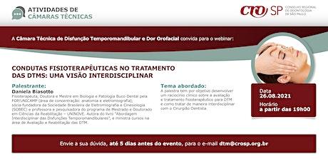 Webinar CROSP -  Condutas Fisioterapêuticas no Tratamento das DTMs ingressos