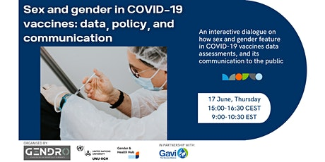 Sex and gender in COVID-19 vaccines: data, policy, and communication tickets