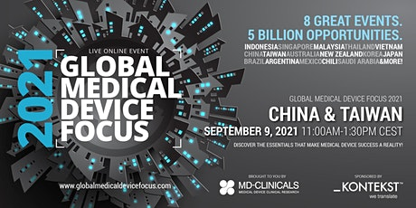 Global Medical Device Focus 2021: China & Taiwan tickets