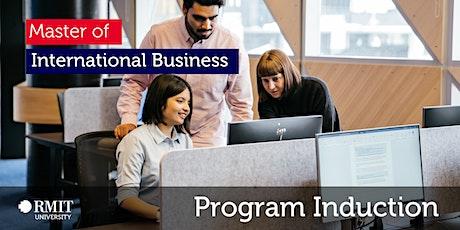 Program Induction –Master of International Business tickets