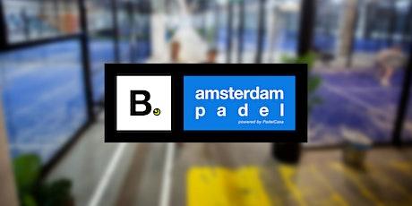Vrijmibo: B. Amsterdam padel tickets