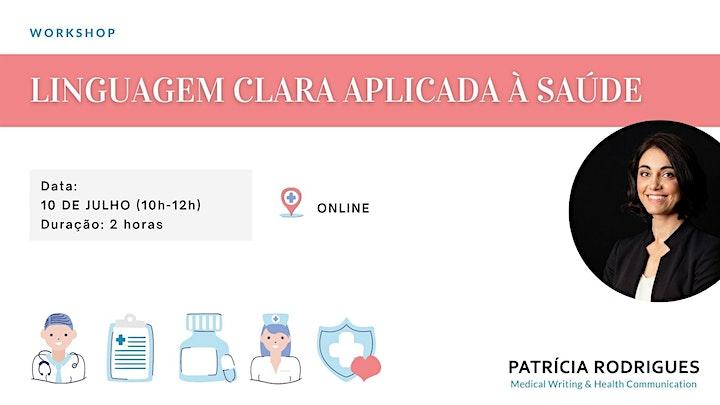 imagem Workshop - LINGUAGEM CLARA APLICADA À SAÚDE