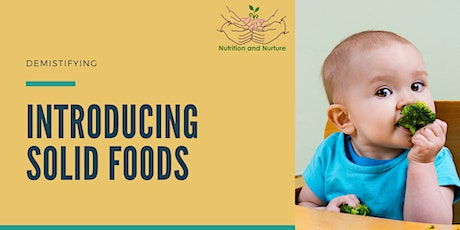 Introducing Solids to your Baby - Live face to face workshop tickets