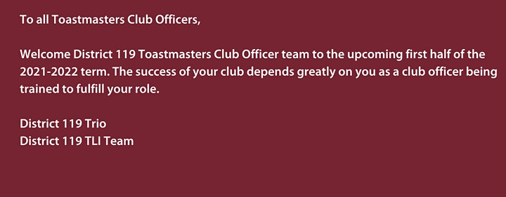District 119 Online Club Officer Training image