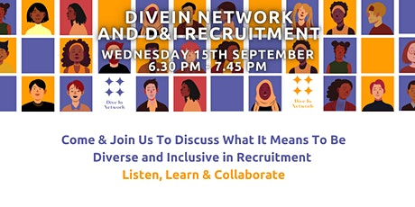DiveIn Network - Let's Talk Diversity And Inclusion In Recruitment tickets