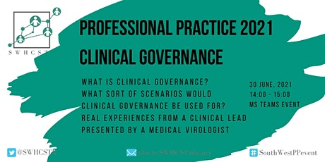 Professional Practice: Clinical Governance Webinar tickets