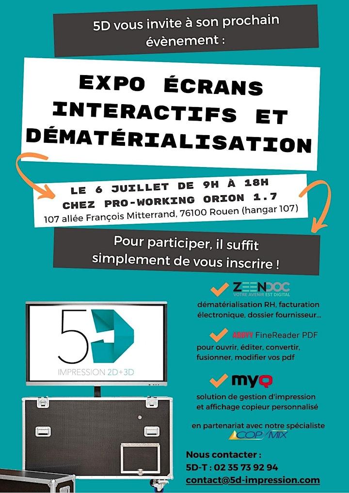 Image pour Expo écrans tableaux interactifs et dématérialisation
