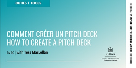 CEE : Comment créer un pitch deck | EMC: How to Create a Pitch Deck tickets