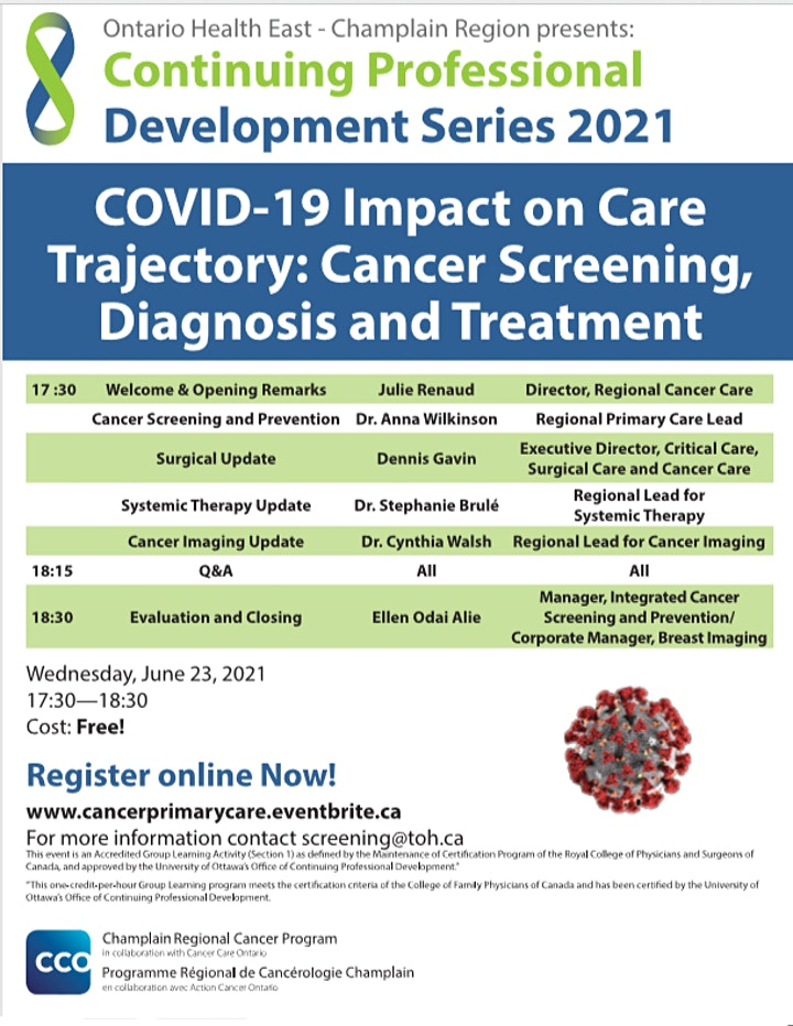 COVID19 Impact on Cancer Care Trajectory:Screening, Diagnosis and Treatment image