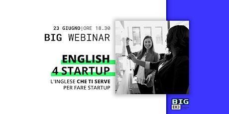 English For Startup: l'inglese che ti serve per fare startup biglietti
