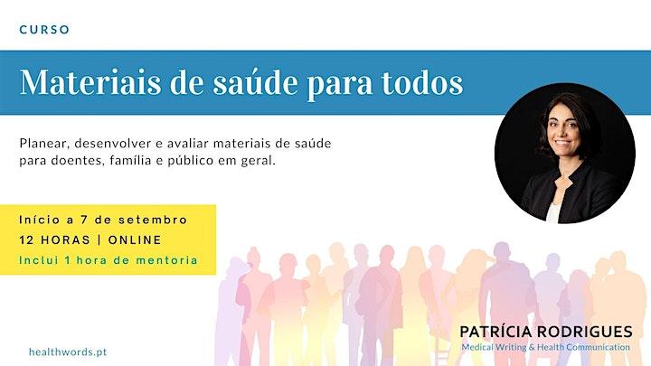 imagem Curso - MATERIAIS DE SAÚDE PARA TODOS