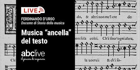 "Ferdinando D'Urso - Musica ""ancella"" del testo tickets"