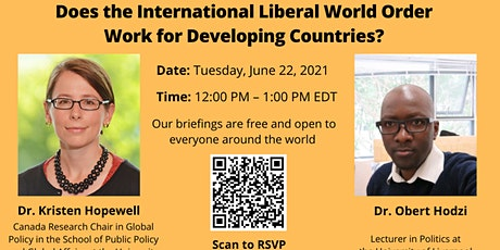 Does the International Liberal World Order Work for Developing Countries? tickets