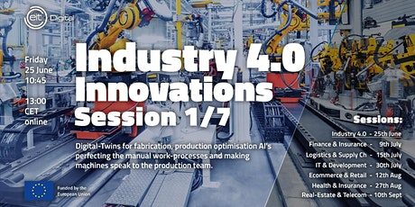 Industry 4.0 Innovations Conference | Session 1 of 7 tickets