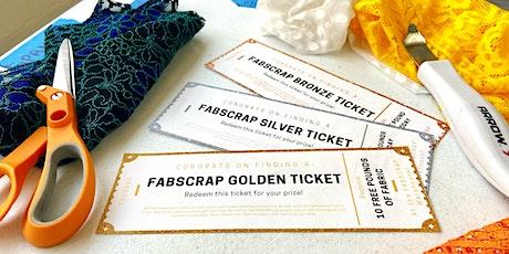 FABSCRAP Volunteer: Thursday, July 29, PM Golden Ticket session tickets