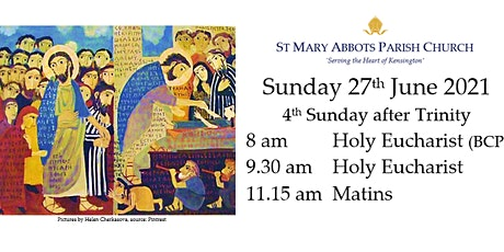 Sunday Services on 27th June 2021 tickets