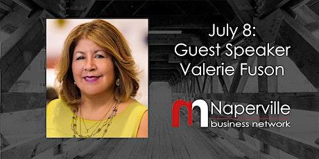 VIRTUAL Naperville Meeting July 8: Guest Speaker Valerie Fuson tickets