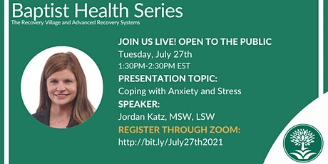 Baptist Health Webinar: Coping with Anxiety and Stress tickets