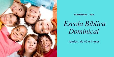 EBD (crianças de 5 a 11 anos) - 20/06 - 10h ingressos