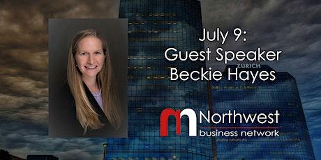 VIRTUAL Northwest Meeting July 9: Guest Speaker Beckie Hayes tickets