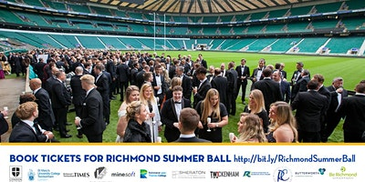 Richmond Summer Ball – Awards, Pitch-side  Reception, Dinner and Dancing