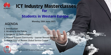 Industry Masterclasses for Students in Western Europe - 28th June 2021 tickets