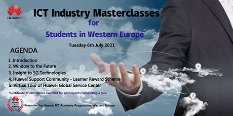 Industry Masterclasses for Students in Western Europe - 6th July 2021 tickets