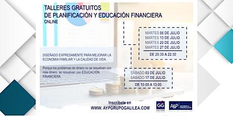 TALLE DE PLANIFICACIÓN Y EDUCACIÓN FINANCIERA tickets