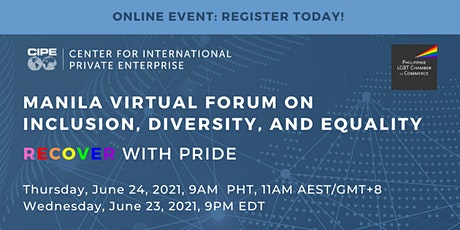 Manila Virtual Forum on Inclusion, Diversity, Equality: RECOVER with PRIDE tickets