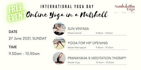 International Yoga Day - Online Yoga in a Nutshell tickets