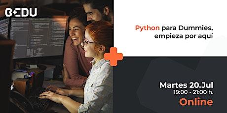 Python para Dummies, empieza por aquí/Sesiones en vivo. boletos