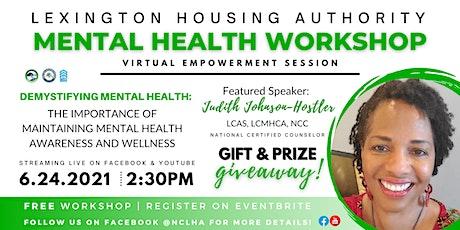 Demystifying Mental Health Virtual Workshop tickets