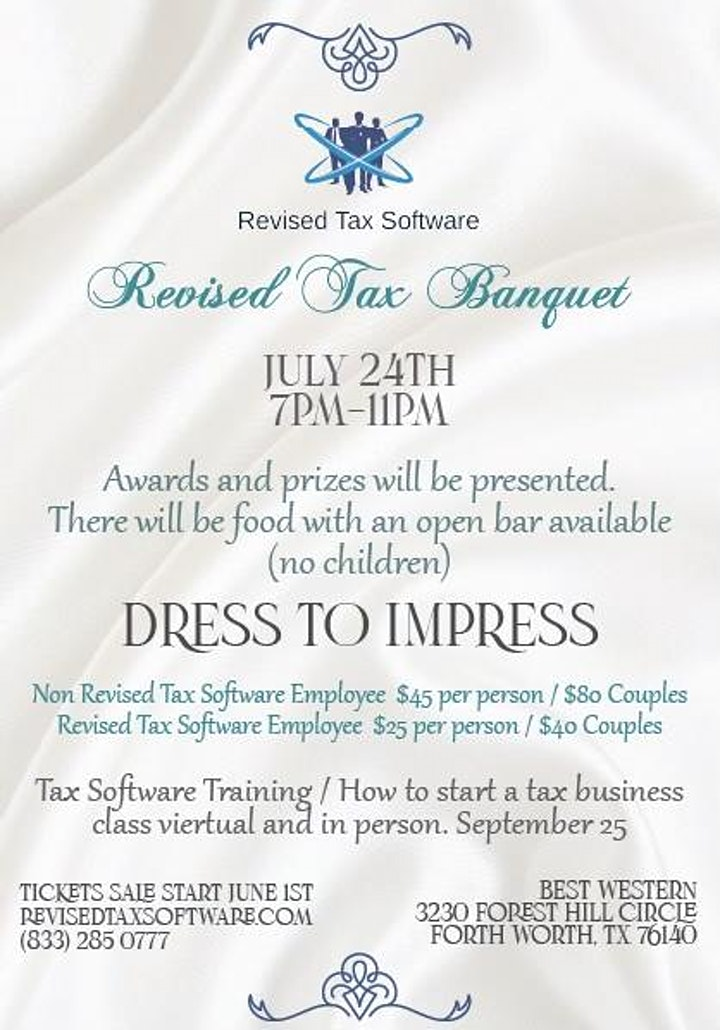 Revised Tax Software Banquet image