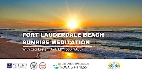 Sunrise Meditation on Fort Lauderdale Beach tickets