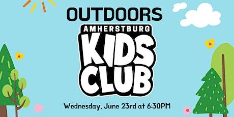 Outdoors Kids Club: June 23rd, 2021 tickets