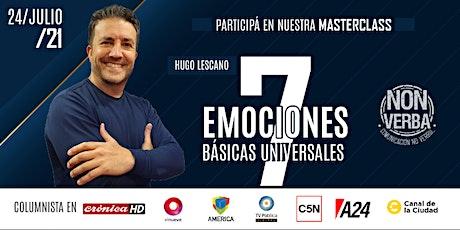 Masterclass: 7 Emociones Básicas Universales con Hugo Lescano entradas