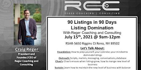 90 Listings in 90 Days w/ Craig Reger tickets