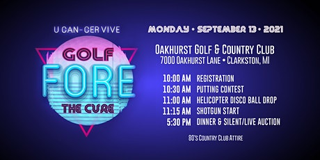 2021 U CAN-CER VIVE Golf Fore The Cure! tickets