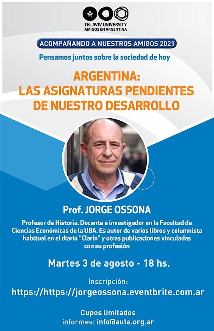 Imagen de Prof. JORGE OSSONA: ARGENTINA