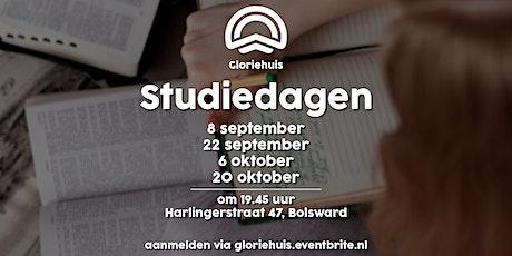 Gloriehuis - Verdieping en studiedagen tickets