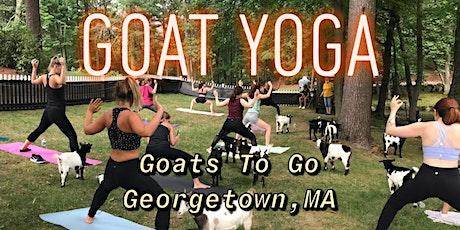 Goat Snuggle & Yoga tickets