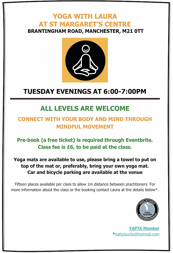 Yoga class with Laura at St Margarets Centre image
