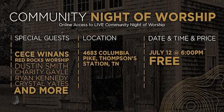 Community Night of Worship tickets