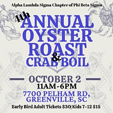 4 Annual Oyster Roast and Crab Boil tickets