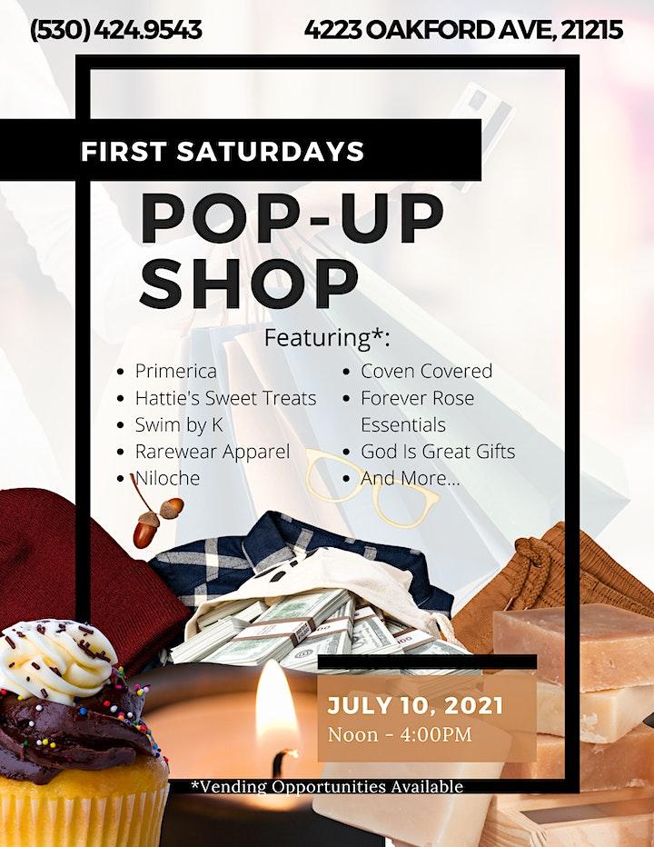 First Saturdays Pop- Up Shop image