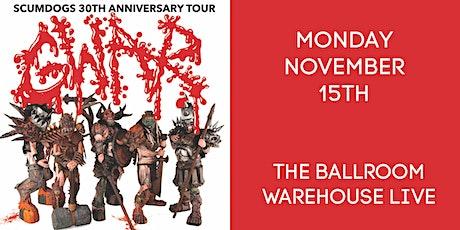 GWAR: SCUMDOGS 30TH ANNIVERSARY TOUR tickets