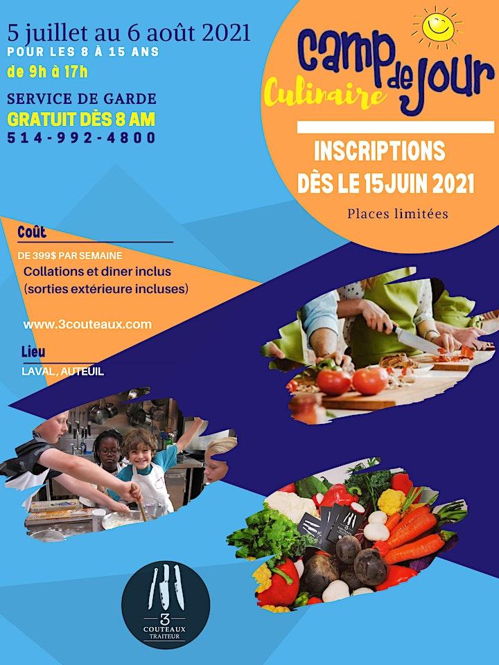 Image de Camp de jour culinaire 3Couteaux - Semaine du 5 au 9 juillet 2021