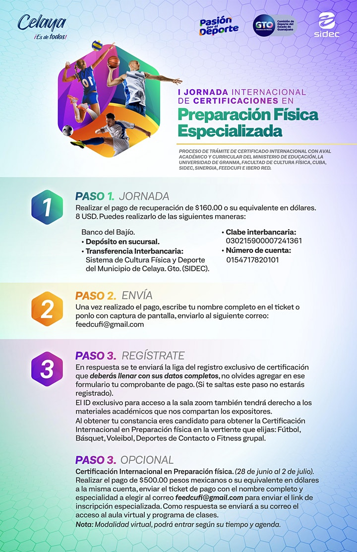 Imagen de I Jornada Inter. de Certificaciones en Preparación Física Especializada.