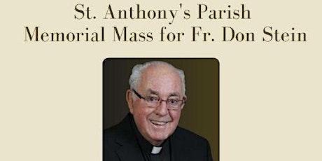 June 22 Fr. Don Stein Memorial Mass Sign-up tickets