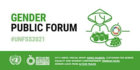 UN Food Systems Summit Gender Public Forum tickets